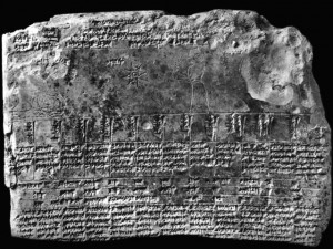 Tablette astrologique babylonienne