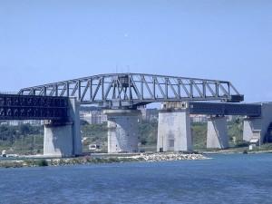 pont tournant de Caronte, ligne de Miramas à l'Estaque - 1915