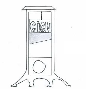 guillotine, dessin de Jérôme Lefranc