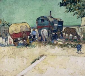 Les roulottes de Vincent Van Gogh - Musée d'Orsay