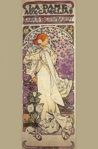 Sarah Berhardt dans La dame aux camélias d'Alexandre Dumas