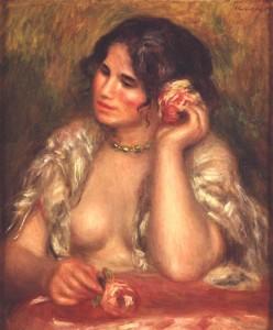 Gabrielle à la rose de Auguste Renoir - Musée d'Orsay -
