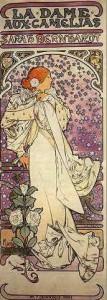 Affiche Sarah bernhardt dans La dame aux camélias