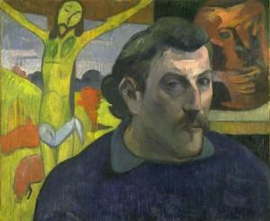 Portrait de l'artiste au Christ jaune de Paul Gauguin - Musée d'Orsay