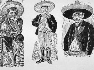 Zapata et deux de ses révolutionnaires - 1910