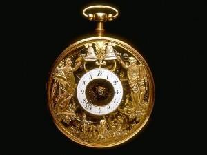 Montre à automates (trois frappeurs de cloche) © l'Album du Musée des arts et métiers