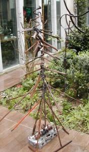 Mon sapin écolo-soudure-récup en chantier