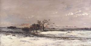 La neige de françois Daubigny - Musée d'Orsay