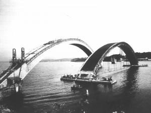 chantier du pont Albert Louppe