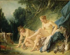 Diane sortant du bain de François Boucher - Musée du Louvre