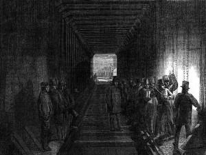 Intérieur du pont-tube Britannia