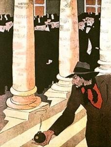 """L'anarchiste : """"Moi, je suis partageux.J'ai jamais pu trinquer tout seul""""."""