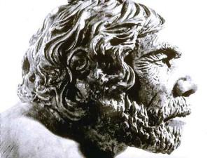 Reconstitution de la tête de l'homme de Néanderthal