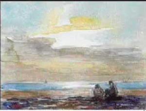 Aquarelle de Georges Ricard Cordingley