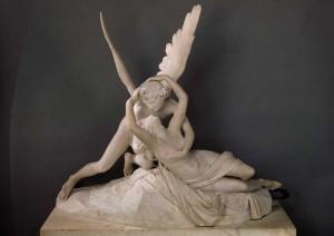 Psyché ranimée par le baiser de l'amour de Antonio Canova