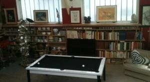 bibliothèque de 5m de largeur faite en 2 heures (planches coupées selon le plan)