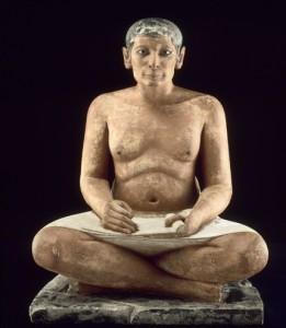 Le Scribe - département des antiquités égyptiennes- Musée du Louvre