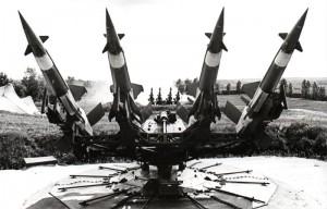 Région militaire de Moscou, missiles en position de tir au temps de la guerre froide