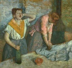 Les repasseuses de Edgar Degas