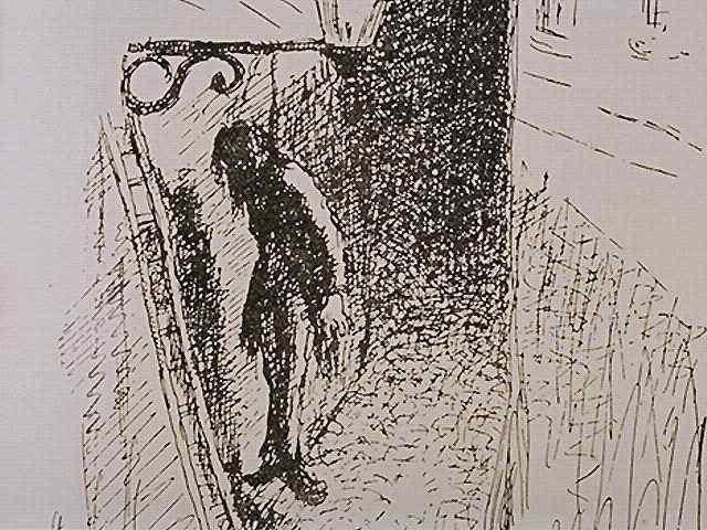 suicide de Gérard de Nerval - Lithographie de Gustave Doré