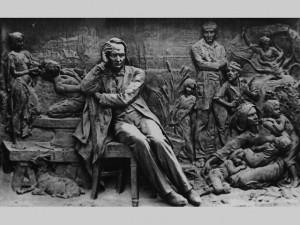 Barrias, le monument Hugo