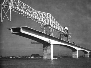 Construction du viaduc d'Oléron