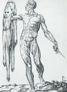 Juan Valverde : Anatomia del corpo humano - l'homme au masque
