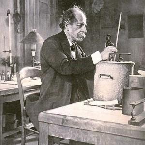 Marcelin Berthelot dans son laboratoire