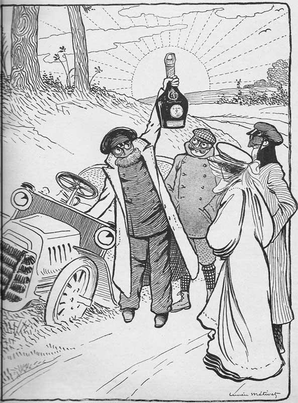 publicité pour la bénédictine - dessin de Lucien Métivet