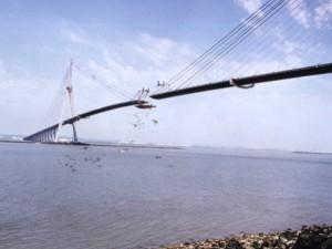 construction du pont de Normandie