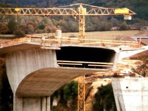 chantier du viaduc de Poncin