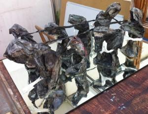 Perdre les siens - sculpture de Maryvonne Pellay