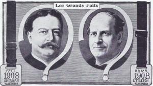 Taft et Bryan, candidats à l'élection américaine de 1908