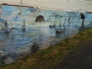 Graff sur une maison de Henningsvær