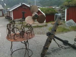 Sund, Lofoten, musée du moteur et forgeron sculpteur
