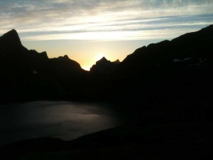 Au sommet du Munkebu 1h30 du matin