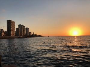 coucher de soleil sur Beyrouth