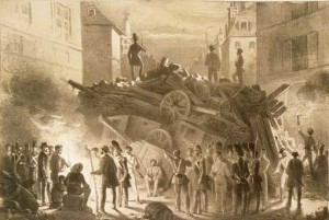 Barricade à Paris en 1848