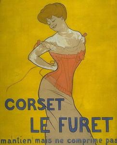 affiche XIXe pour un corset
