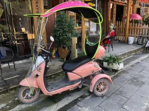 scooter électrique rose