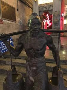 sculpture de bronze, palanche