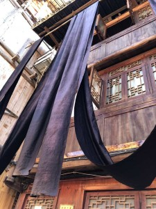 séchage des textiles teints - Guizhou