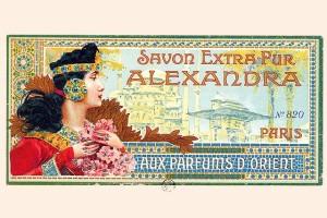 Publicité pour le savon Alexandra